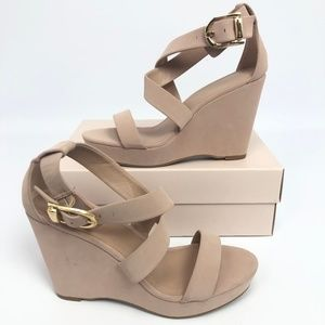 BCBGeneration Shoes - BCBGeneration Womens Jae Wedge Sandals Blush 10M